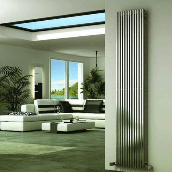 Reina Odin Stainless Steel Radiator - Stainless Steel  Bathroom Radiators - Better Bathrooms Quality designer radiators at fantasic prices