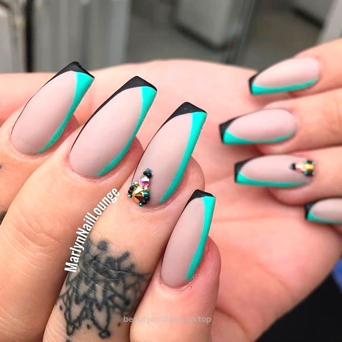 Best Long Nail Designs for Glamorous Girls ★ See more: naildesignsjourna… #n…  http://www.beautyandfashion.top/2017/07/18/best-long-nail-designs-for-glamorous-girls-%E2%98%85-see-more-naildesignsjourna-n/
