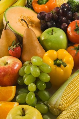 Close up of Fresh Fruits and Vegetables : Custom Wall Decals, Wall Decal Art, and Wall Decal Murals | WallMonkeys.com