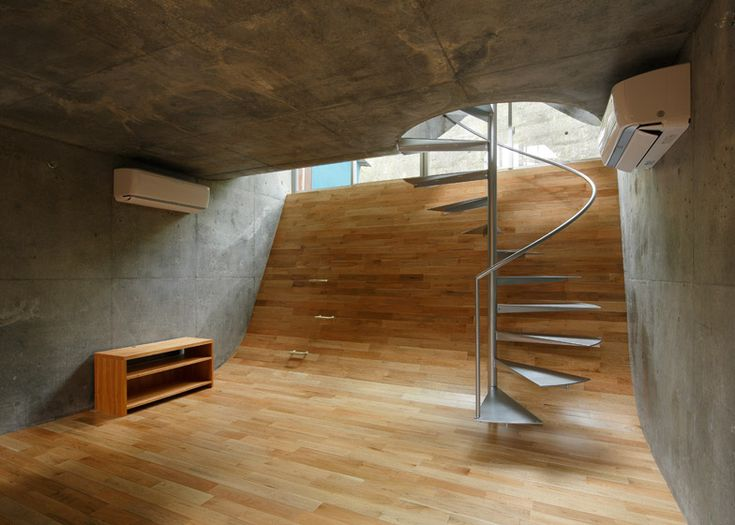 Best Spiral Stairs Puncture Hilly Floors Inside This Japanese 400 x 300