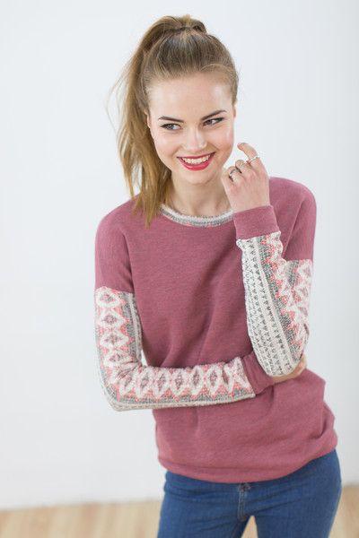 Sweatshirts - Pullover Tabinski rot aztek - ein Designerstück von Shoko bei DaWanda