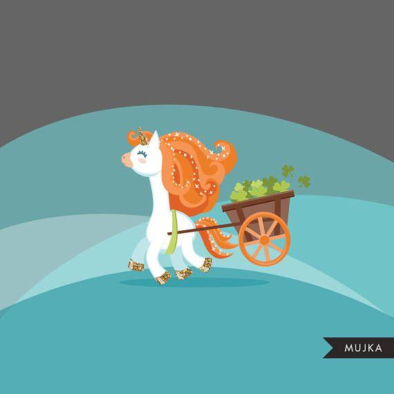 St Patrick S Day Clipart Cute Irish Animals Graphics Etsy St Patricks Day Clipart St Patricks Day Planner Stickers