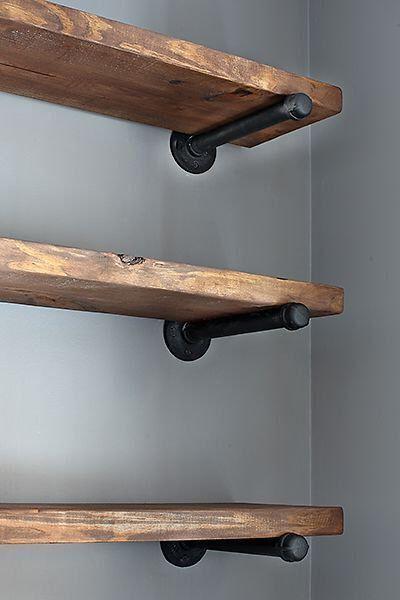 Barnwood & Galvanized Pipe Shelf by ajeanco on Etsy