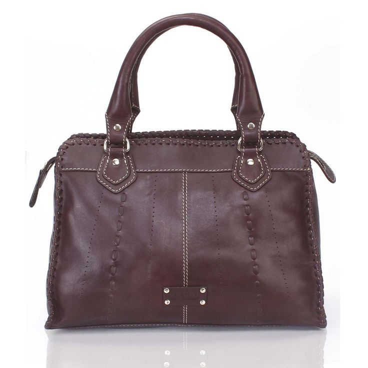 Buy Online #BROWN LADIES LEATHER SATCHEL #BAG for Rs.4,760/- at voganow.com