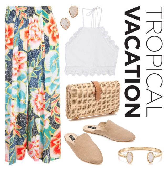"""Blooming Tropics"" by twenty-7 ❤ liked on Polyvore featuring Front Row Shop, Mara Hoffman, Eloquii, J.Crew, Kendra Scott and TropicalVacation"