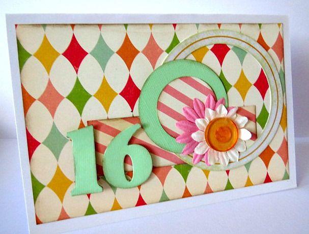 16th Birthday Card Girl, Koko Vanilla Designs Supplies, Card Making Ideas, Inspiration for cards
