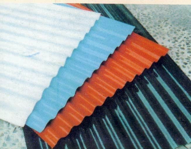Corrugated Steel (Powder Coated? Matte Finish?)