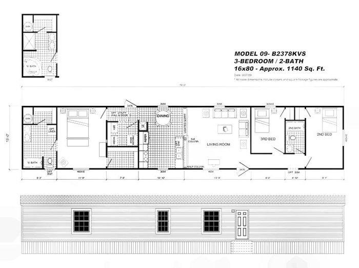 16 X 80 Mobile Home Oakwood Floor Plans Estate Buildings