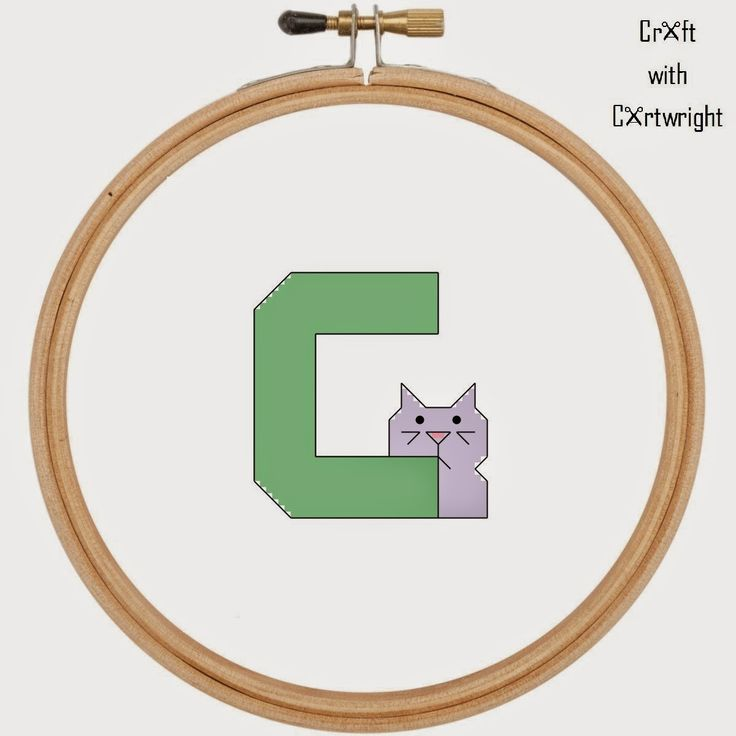 Craft with Ruth Cartwright: Sewing Sunday # 3 - C is for cat Free alphabet cro...