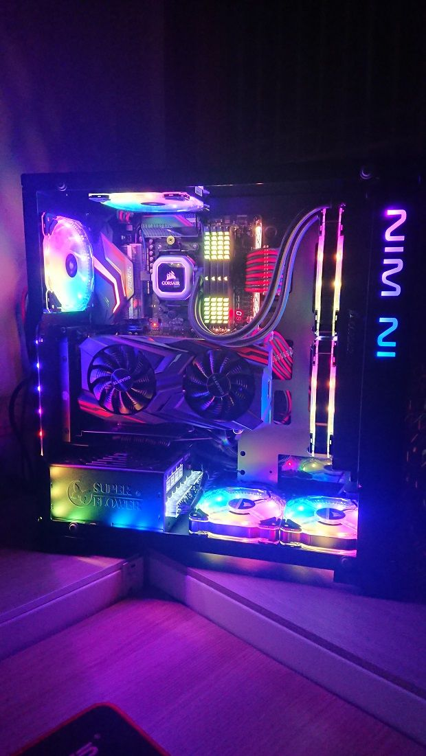 Beautiful Rainbow Water Water Cooling System