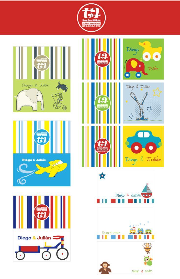 Tarjetas personalizadas para regalos Tarjetas personales niños Pinte