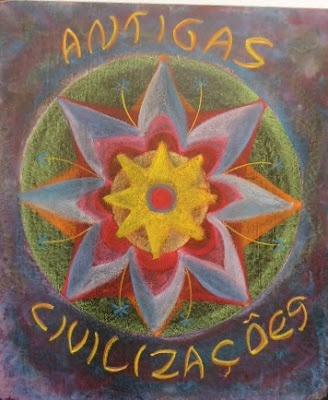 Waldorf ~ 5th grade ~ Ancient India ~ Title Page ~ Mandala ~ chalkboard drawing