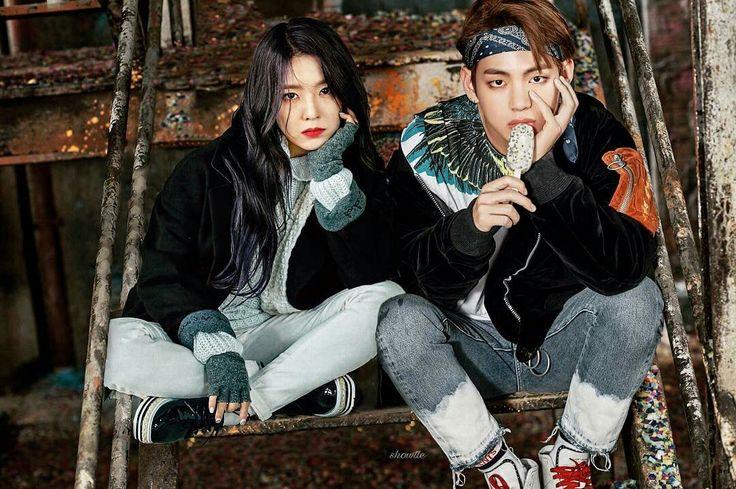 Vrene Taehyung and Irene Red velvet and BTS