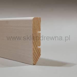 Listwa  przypodłogowa cokół  biały  1,8x7cm
