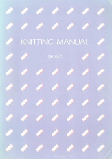 Link to SK-840 Knitting machine manual