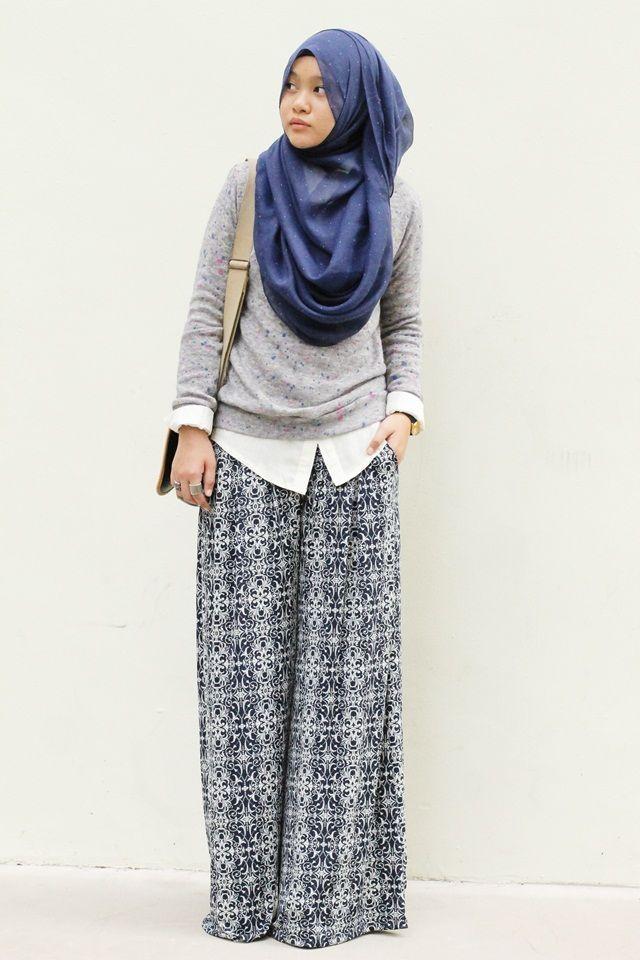 How to wear hijab with palazzo pants? (22)