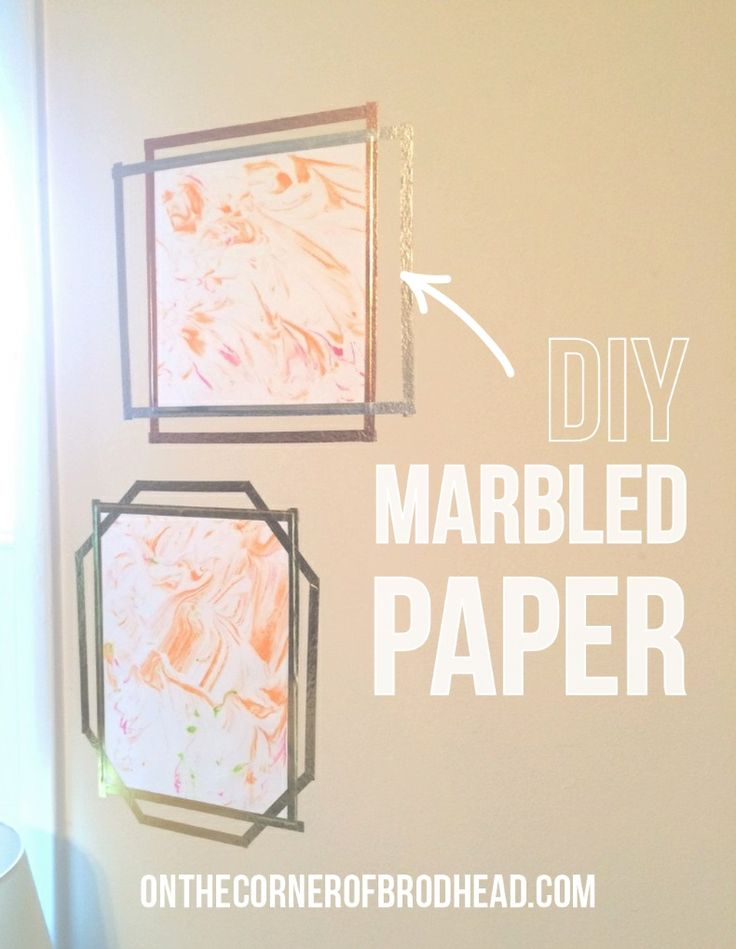 on the corner of brodhead | DIY Marbled Paper | http://www.onthecornerofbrodhead.com