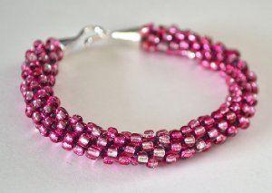 Beaded and Bejeweled Kumihimo Bracelet