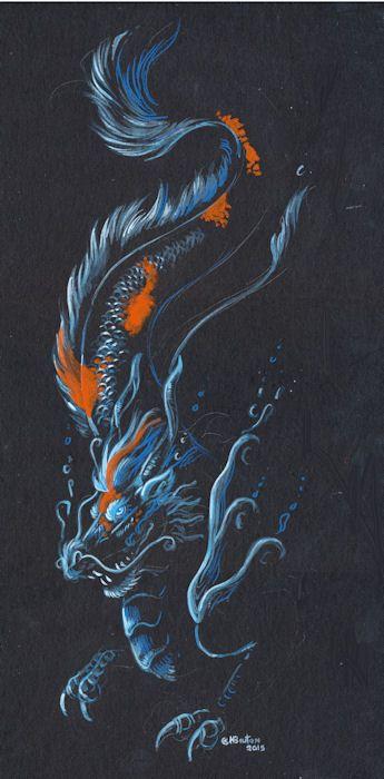 Deep Sea Koi Dragon by Hbruton.deviantart.com on @DeviantArt