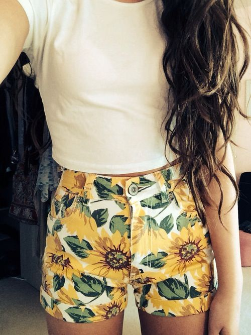 Amity Sunflower shorts. i really want these for the summer