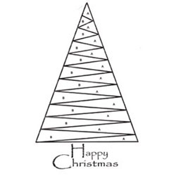Iris Paper Folding Templates | Iris Folding Stamp - Christmas Tree