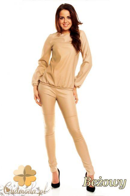 Skórzane damskie spodnie typu rurki marki NOMMO.  #cudmoda #moda #styl #ubrania #odzież #clothes
