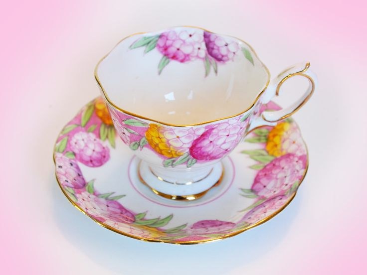 Royal Albert Candytuft Crown China England, yellow and pink flower clusters, circa 1930s, made in England. Hand-painted and hand-stamped. by Trashtiques on Etsy https://www.etsy.com/ca/listing/563347251/royal-albert-candytuft-crown-china
