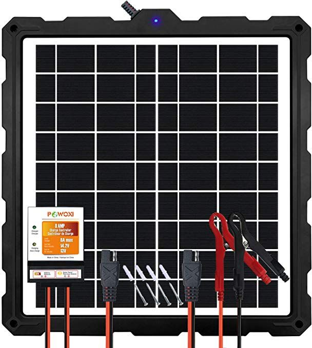 Powoxi Upgraded 20w Solar Battery Charger Maintainer External Smart 3 Stages Pwm Charge Controller 12v So Solar Battery Charger Solar Battery 12v Solar Panel