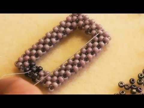 Cubic Right Angle Weave - how to create a frame