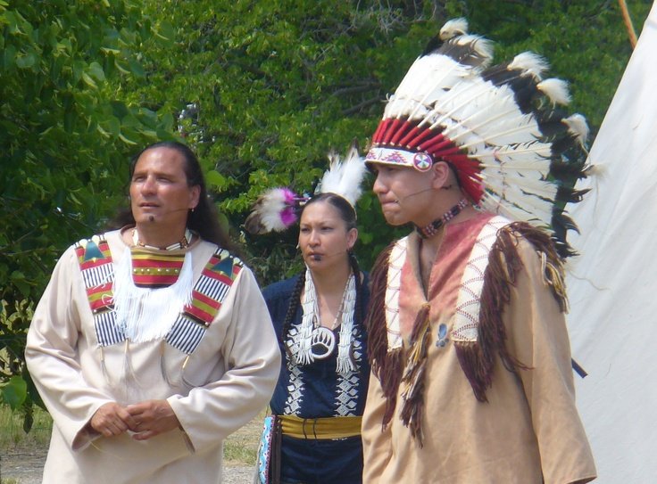Reenactors portray Sitting Bull and his people, the Lakota Sioux, at the 2012 production of The Medicine Line.  http://www.inkwellinspirations.com/2012/08/the-medicine-line-outdoor-show.html