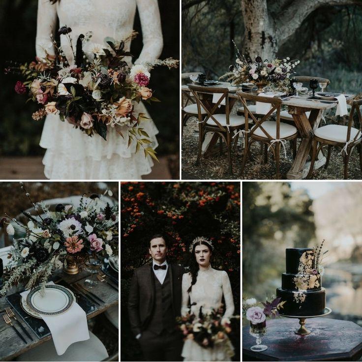 Gothic Wedding Decoration Ideas: American Gothic Harvest Wedding Inspiration