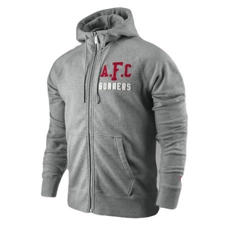 Nike Arsenal Authentic AW77 Full-Zip Hoody - Grey $80.99