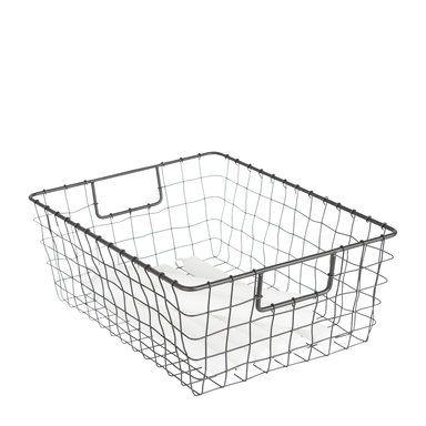 Åhlens. Förvaringskorg Rut, 35,5x27 cm, svart, svart