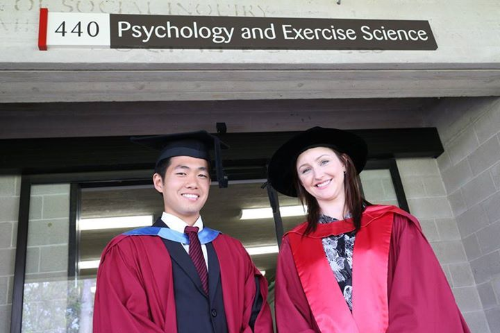Here is a photo from one of our proud Singaporean students, Theodore Teow, who recently had his undergraduate graduation but is now commencing his PhD under the guide of Dr Bethanie Gouldthorp from the school of Psychology and Exercise Science.