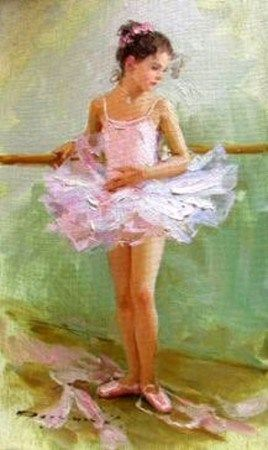 such a lovely painting, would love it in my bedroom. Little Ballerina