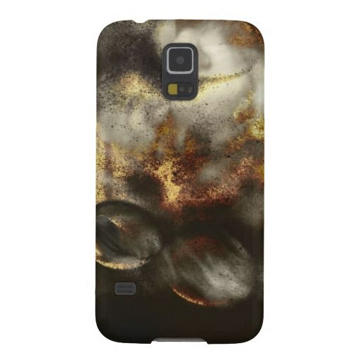 Gold and Silver Star Dust Effect Case For Galaxy S5 #fomadesign