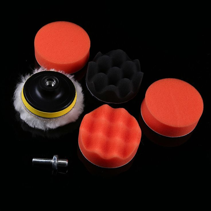 """POSSBAY 7Pcs/Lot 3"""" Buffing Pad Auto Car Polishing Pad Wheel Kit Buffer With Drill Adapter For Car Polisher Accessories"""