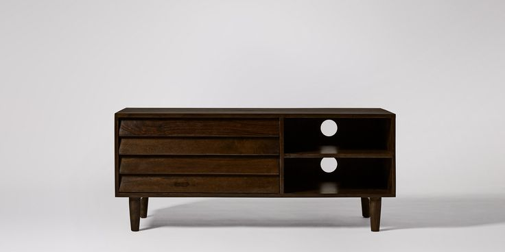 Swoon Editions Media unit, mid-century style in rosewood - £329