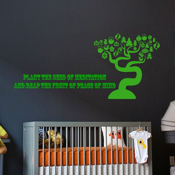 Quote Plant The Seed Of Meditation And Reap Fruit Peace Mind Decal Vinyl Sticker Decor Home Interior Design Art Murals
