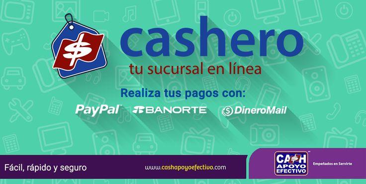Recuerda que con cashero es más fácil realizar tus pagos. Te ofrecemos varios métodos de pago, compruébalo!