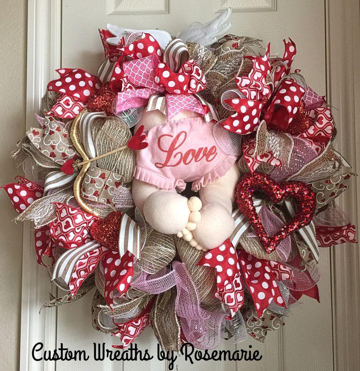 477 best Wreaths - Valentine Wreaths and Door Decor images on ...