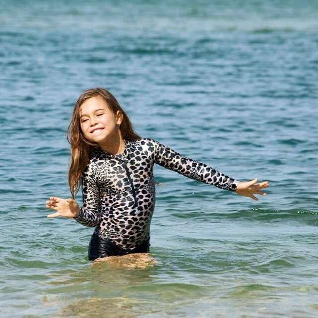 Oceana Blue Sea Leopard Swimsuit | Cool Kids Clothes | Tiny Style | Australia