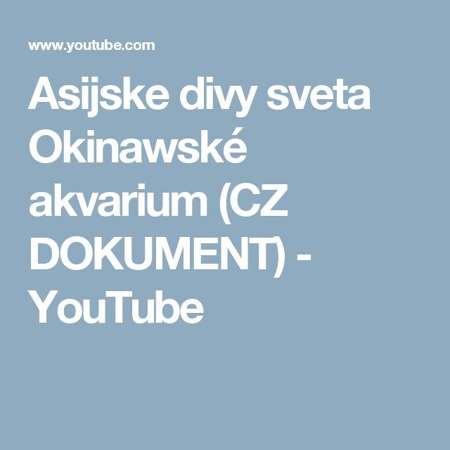 Asijske divy sveta Okinawské akvarium (CZ DOKUMENT) - YouTube