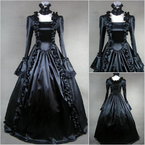 Готическое платье на выпускной вечер
