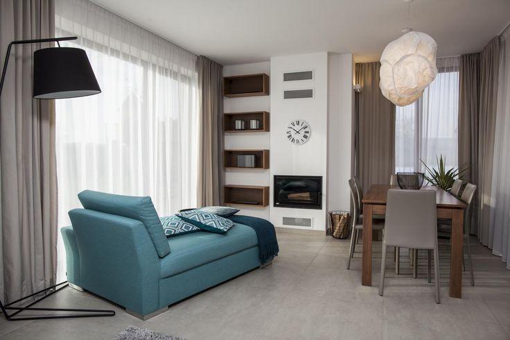 Family house, Prague #living room #dining table #cloud light Realizace | Andrea Hylmarová