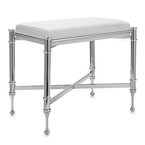 Buy Taymor Chrome Vanity Bench From At Bed Bath U0026 Beyond. This Polished  Chrome Plated Steel Taymor Chrome Vanity Bench Will Look Beautiful In Any  Bathroom ...