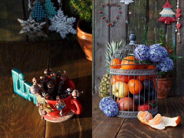 клетка для птиц вместо вазы для фруктов ...