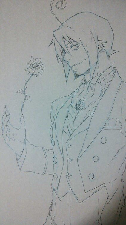 Blue Exorcist I wish I could draw such a good Mephisto Pheles