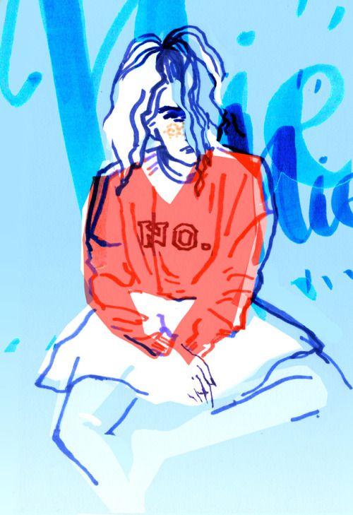 "My name starts with ""No"". fashion illustration 2017"