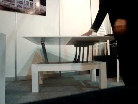 Mesa de centro convertible en mesa de comedor - YouTube